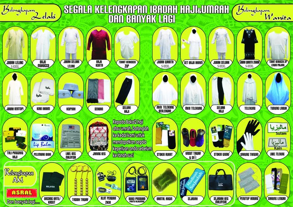 Flyer Senarai Kelengkapan Haji dan Umrah